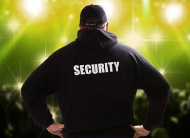 Event security guard with SSR Private Security and Protection Services in Vancouver, Burnaby, and Coquitlam